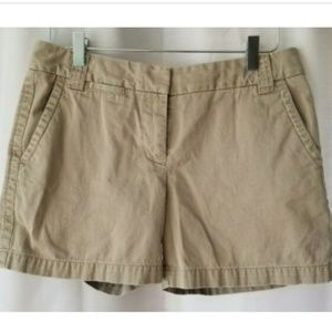 J. Crew women's size 4 khaki chino shorts